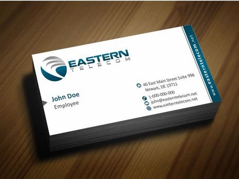 Eastern Telecom Business Cards and Stationery  Draft # 126 by Deck86