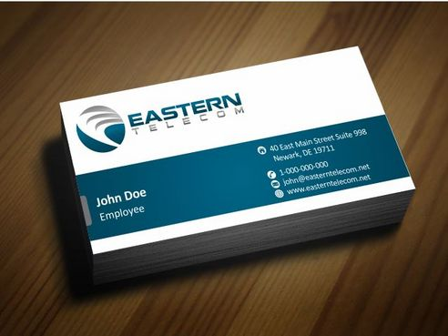Eastern Telecom Business Cards and Stationery  Draft # 125 by Deck86