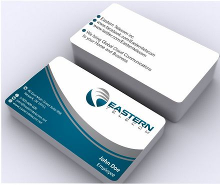 Eastern Telecom Business Cards and Stationery  Draft # 129 by Deck86
