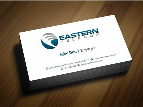 Eastern Telecom Business Cards and Stationery  Draft # 128 by Deck86