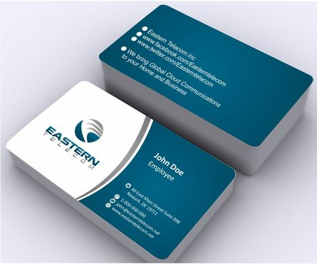 Eastern Telecom Business Cards and Stationery  Draft # 130 by Deck86