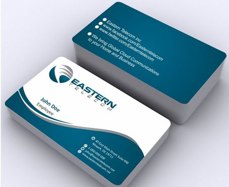 Eastern Telecom Business Cards and Stationery  Draft # 133 by Deck86