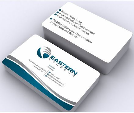 Eastern Telecom Business Cards and Stationery  Draft # 132 by Deck86