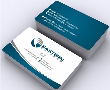 Eastern Telecom Business Cards and Stationery  Draft # 135 by Deck86