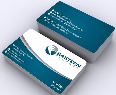 Eastern Telecom Business Cards and Stationery  Draft # 137 by Deck86