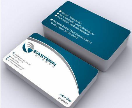Eastern Telecom Business Cards and Stationery  Draft # 138 by Deck86