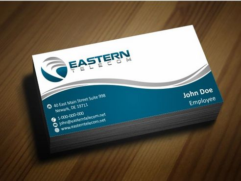 Eastern Telecom Business Cards and Stationery  Draft # 141 by Deck86