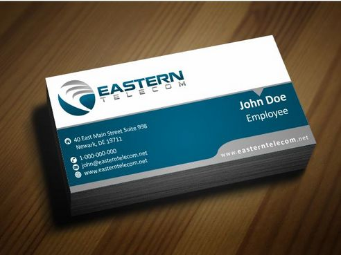 Eastern Telecom Business Cards and Stationery  Draft # 143 by Deck86