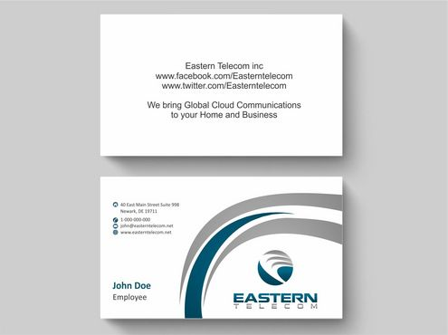Eastern Telecom Business Cards and Stationery  Draft # 146 by Deck86