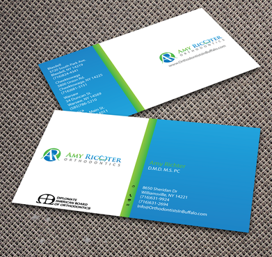 Amy Richter Orthodontics Business Cards and Stationery  Draft # 268 by jpgart92