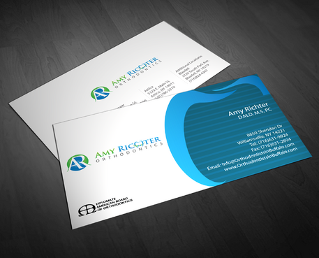 Amy Richter Orthodontics Business Cards and Stationery  Draft # 274 by jpgart92
