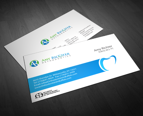 Amy Richter Orthodontics Business Cards and Stationery  Draft # 276 by jpgart92