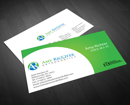 Amy Richter Orthodontics Business Cards and Stationery  Draft # 278 by jpgart92
