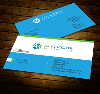 Amy Richter Orthodontics Business Cards and Stationery  Draft # 282 by jpgart92