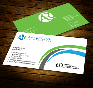 Amy Richter Orthodontics Business Cards and Stationery  Draft # 284 by jpgart92
