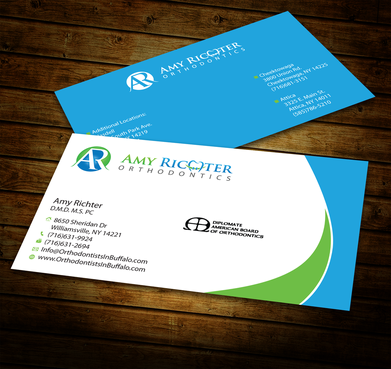 Amy Richter Orthodontics Business Cards and Stationery  Draft # 285 by jpgart92