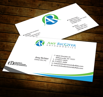 Amy Richter Orthodontics Business Cards and Stationery  Draft # 286 by jpgart92