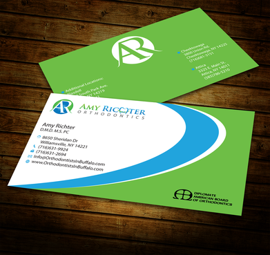 Amy Richter Orthodontics Business Cards and Stationery  Draft # 287 by jpgart92