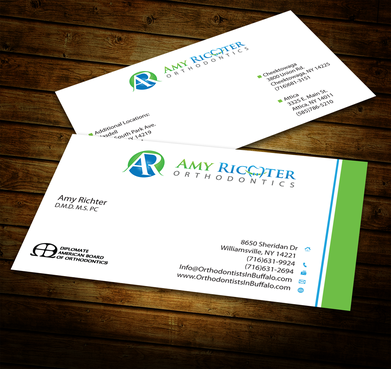 Amy Richter Orthodontics Business Cards and Stationery  Draft # 288 by jpgart92