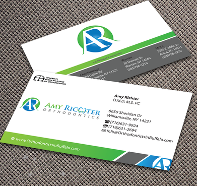 Amy Richter Orthodontics Business Cards and Stationery  Draft # 290 by jpgart92