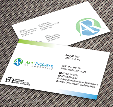 Amy Richter Orthodontics Business Cards and Stationery  Draft # 294 by jpgart92