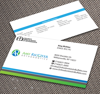Amy Richter Orthodontics Business Cards and Stationery  Draft # 295 by jpgart92