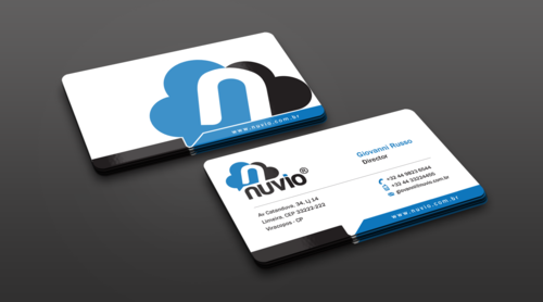 Nuvio Business Cards and Stationery Winning Design by einsanimation