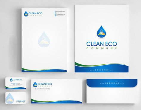 "Business moto is "" Making life clean and easy"" Business Cards and Stationery  Draft # 278 by Deck86"