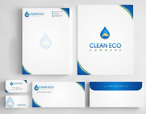 "Business moto is "" Making life clean and easy"" Business Cards and Stationery  Draft # 283 by Deck86"