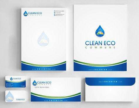 "Business moto is "" Making life clean and easy"" Business Cards and Stationery  Draft # 285 by Deck86"