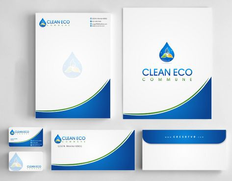 "Business moto is "" Making life clean and easy"" Business Cards and Stationery  Draft # 289 by Deck86"