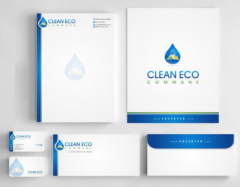 "Business moto is "" Making life clean and easy"" Business Cards and Stationery  Draft # 290 by Deck86"