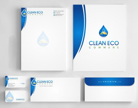 "Business moto is "" Making life clean and easy"" Business Cards and Stationery  Draft # 293 by Deck86"