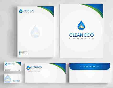 "Business moto is "" Making life clean and easy"" Business Cards and Stationery  Draft # 295 by Deck86"