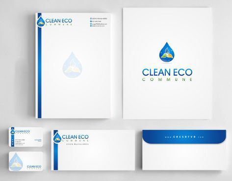 "Business moto is "" Making life clean and easy"" Business Cards and Stationery  Draft # 296 by Deck86"