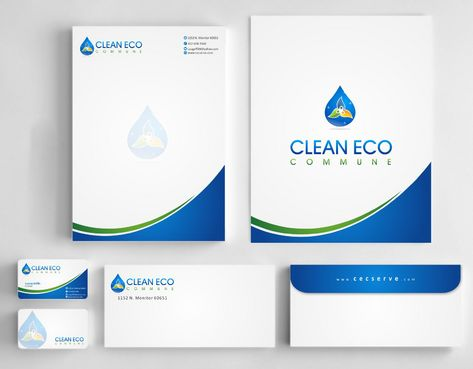 "Business moto is "" Making life clean and easy"" Business Cards and Stationery  Draft # 299 by Deck86"
