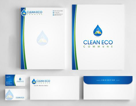 "Business moto is "" Making life clean and easy"" Business Cards and Stationery  Draft # 300 by Deck86"