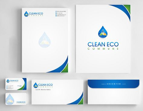 "Business moto is "" Making life clean and easy"" Business Cards and Stationery  Draft # 301 by Deck86"