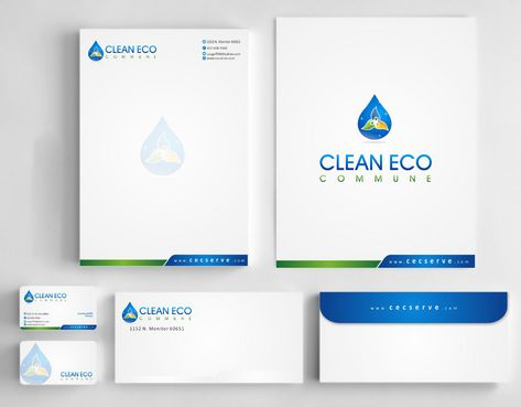 "Business moto is "" Making life clean and easy"" Business Cards and Stationery  Draft # 302 by Deck86"