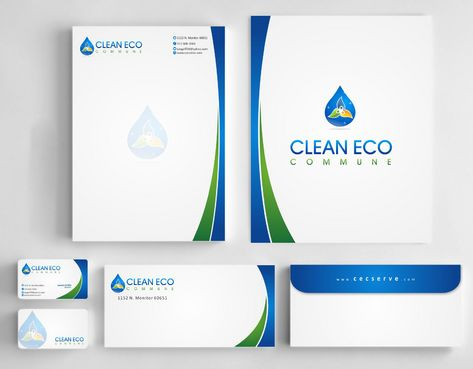 "Business moto is "" Making life clean and easy"" Business Cards and Stationery  Draft # 303 by Deck86"