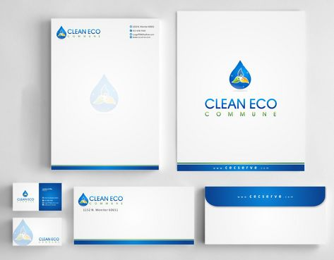 "Business moto is "" Making life clean and easy"" Business Cards and Stationery  Draft # 304 by Deck86"