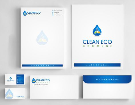 "Business moto is "" Making life clean and easy"" Business Cards and Stationery  Draft # 305 by Deck86"