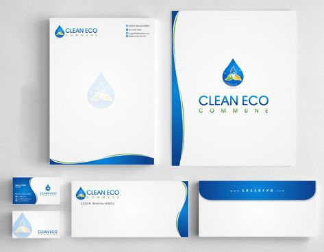 "Business moto is "" Making life clean and easy"" Business Cards and Stationery  Draft # 306 by Deck86"