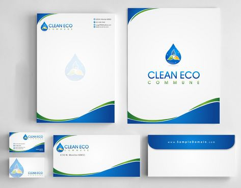 "Business moto is "" Making life clean and easy"" Business Cards and Stationery  Draft # 307 by Deck86"