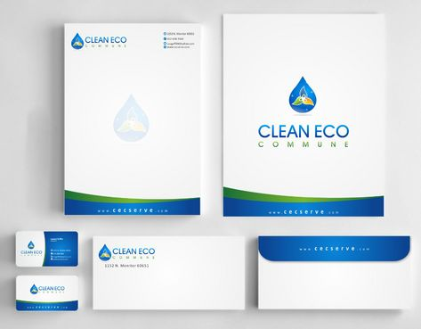 "Business moto is "" Making life clean and easy"" Business Cards and Stationery  Draft # 308 by Deck86"