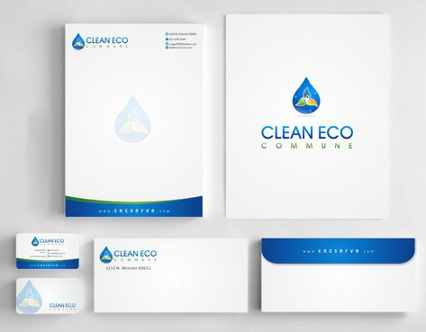 "Business moto is "" Making life clean and easy"" Business Cards and Stationery  Draft # 309 by Deck86"