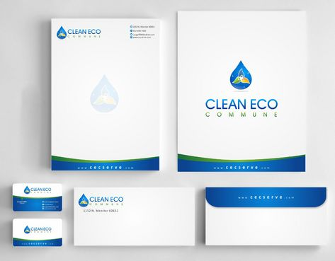 "Business moto is "" Making life clean and easy"" Business Cards and Stationery  Draft # 310 by Deck86"
