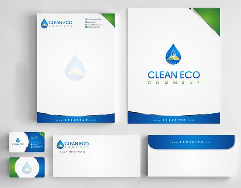 "Business moto is "" Making life clean and easy"" Business Cards and Stationery  Draft # 314 by Deck86"