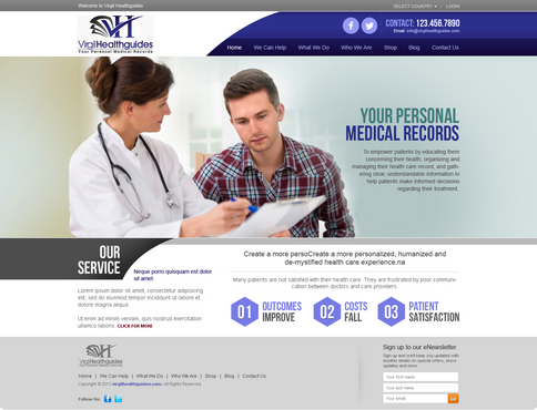 Your Personal Medical Records Complete Web Design Solution  Draft # 44 by timefortheweb