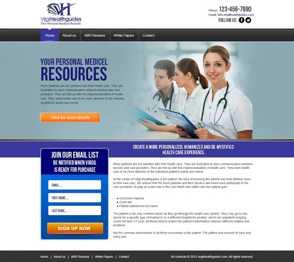 Your Personal Medical Records Complete Web Design Solution  Draft # 45 by timefortheweb